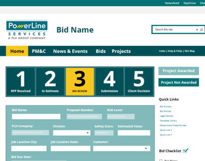 PLH Intranet Site