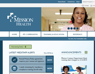 Mission Health Composition Mock up - Early Draft