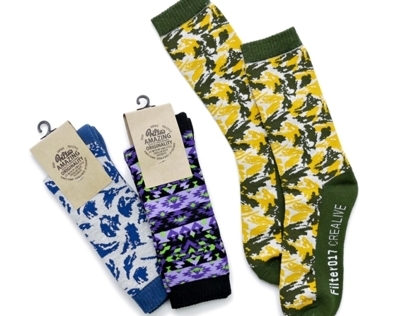 Filter017 x Evangelion - EVA Pattern Socks