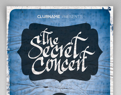 The Secret Concert Party Flyer Template