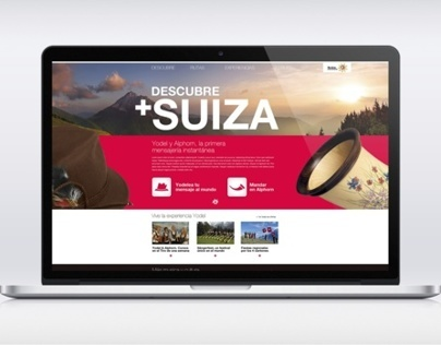 Tourism of Switzerland. Microsite Project