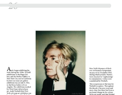 Andy Warhol Magazine Spread