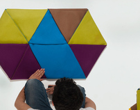 ZIP, modular rugs inspired by origami artworks