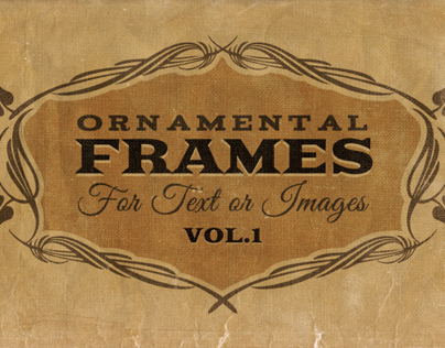 Ornamental frames Vol.1