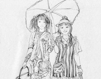 sketch / FRUiTS mag / 001