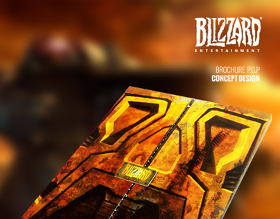 Blizzard Entertainment / P.O.P Brochure- Concept Design