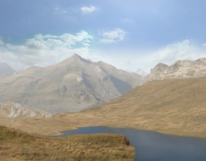 Mountain environment. Camera Mapping.