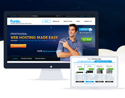 Funio Web Hosting - Website Layout Design