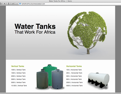 Water Tank Promotion Website