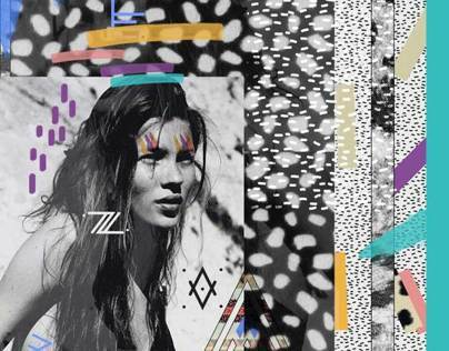 KATE MOSS (Collage)