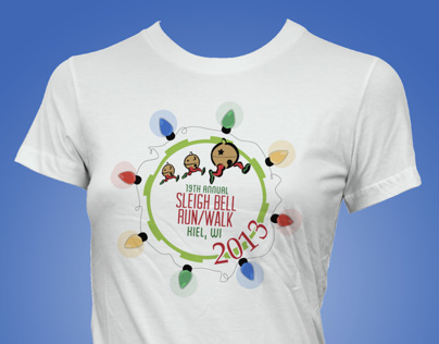 Sleigh Bell Run/Walk T-Shirt Design