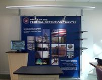 Department of Justice exhibit booth