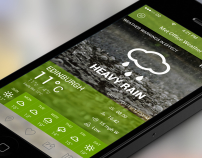 Met Office iOS App Redesign Concept