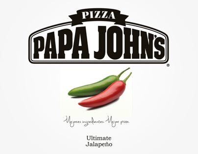 "Packaging Minimalista ""Papa John's Ultimate Jalapeño"""