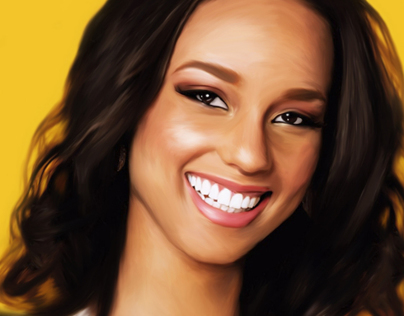 ALICIA KEYS - Digital Painting