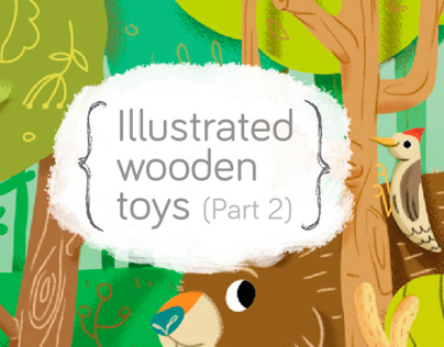 Illustrated wooden Toys 2