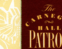 Carnegie Hall Patron Program Brochure