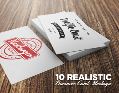 Product: 10 Realistic Business Card Mockups