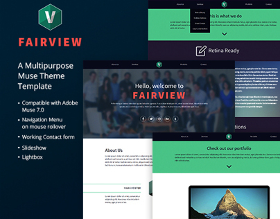 Fairview - A One Page Muse Theme