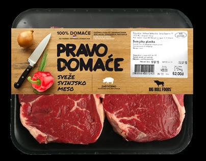 Big Bull Foods   Meat Packaging design proposals