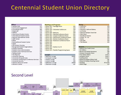 Minnesota State University Mankato Wayfinding Map