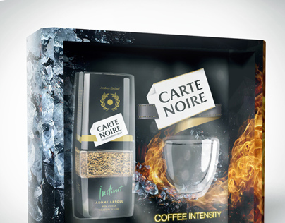 Two concepts of gift packaging for coffee
