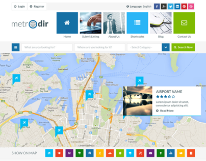 Metro Directory & Listings WP Theme