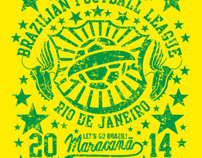 2014 brazil football vector art