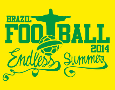 2014 brazil football carnival vector art