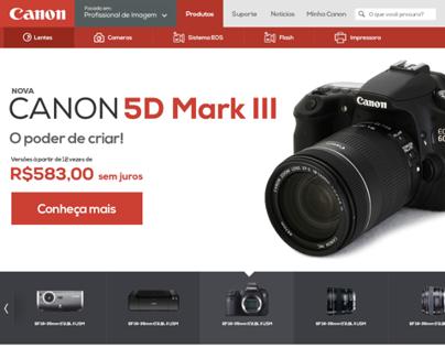 Canon Website Redesign Concept