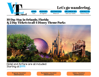 Vagabond Travel Website