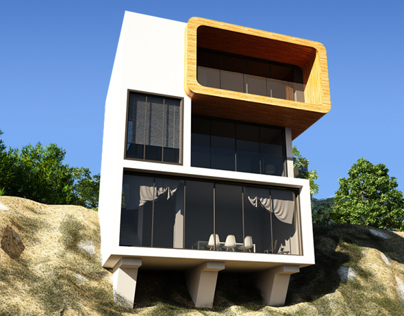 Slope House | Exterior Rendering