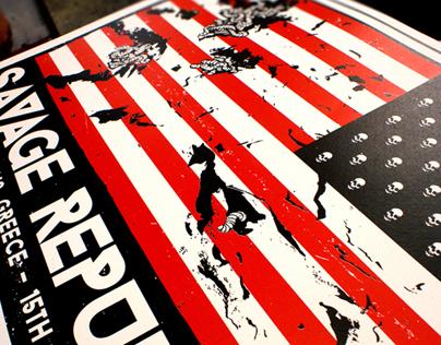 Savage Republic Silkscreen Poster