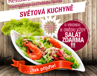 flyer for restaurant