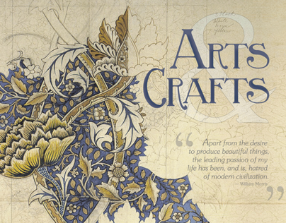 Design History Poster: Arts & Crafts Movement