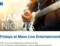 Jam Night Promotion - Citymax Hotel, Dubai, U.A.E.