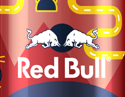 Red Bull Carnival Illustration