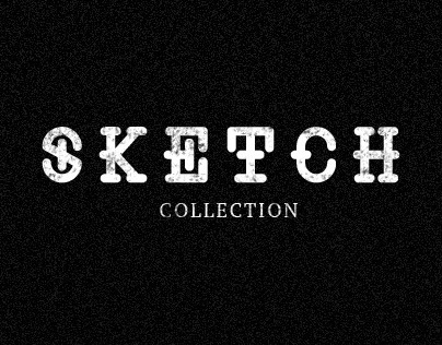 Sketch collection for t-shirts illustrations