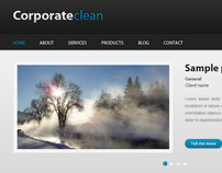 Corporateclean a free PSD Template