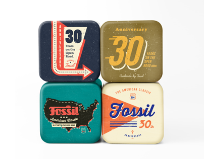 Fossil Anniversary Watch Tin Boxes