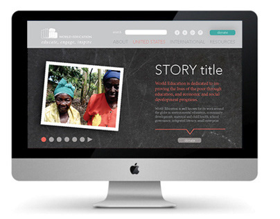 Site Redesign Concepts for World Education