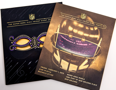 Super Bowl XLVII Friday Night Party Invitation