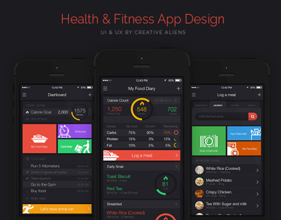 Health and Fitness App Design