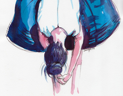 BALLERINA ink on paper