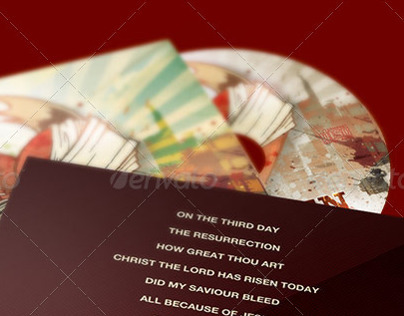 Broken CD Artwork Template
