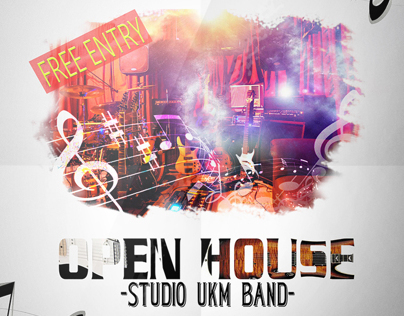 FLYER OPEN HOUSE UKM BAND IT TELKOM