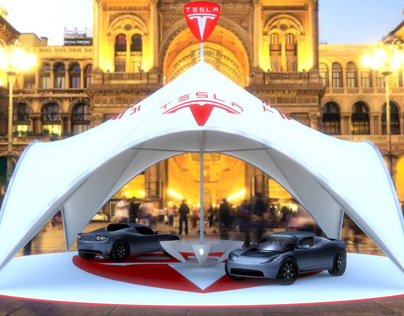 Tesla Tent Showcase