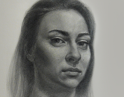 Diana. Realistic portrait drawing