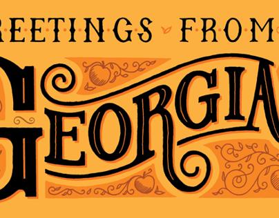 Georgia lettering