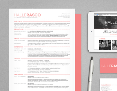 Halle Rasco - Student Resume Design